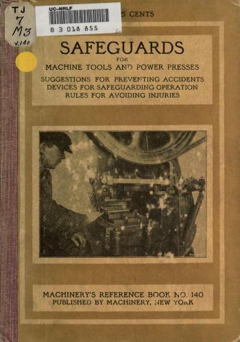 كتاب Safeguards for Machine Tools and Power Presses M_r_s_10