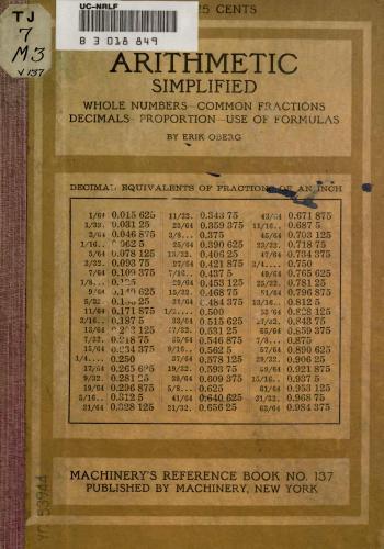 كتاب Arithmetic Simplified  M_r_s_11