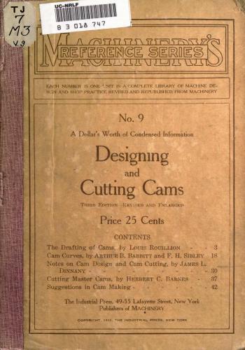 كتاب Designing and Cutting Cams  M_r_s_30
