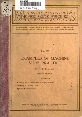 كتاب Examples of Machine Shop Practice  M_r_s_31