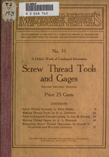 كتاب Screw Thread Tools and Gages  M_r_s_52