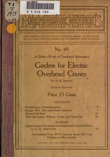كتاب Girders for Electric Overhead Cranes  M_r_s_71