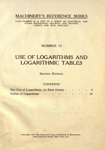 كتاب Use of Logarithms and Logarithmic Tables  M_r_s_74