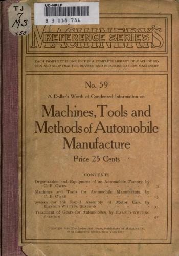 كتاب Machines, Tools, and Methods of Automobile Manufacturer  M_r_s_80