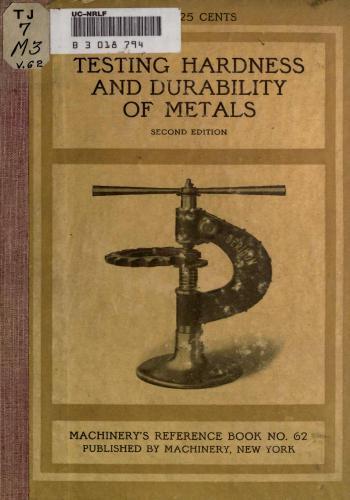 كتاب Testing the Hardness and Durability of Metals  M_r_s_83