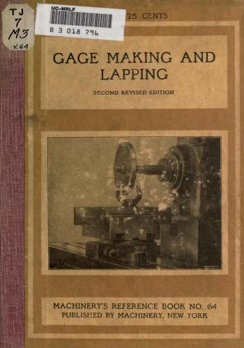 كتاب Gage Making and Lapping  M_r_s_84