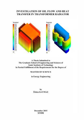 رسالة ماجستير بعنوان Investigation of Oil Flow and Heat Transfer in Transformer Radiator  M_s_c_13