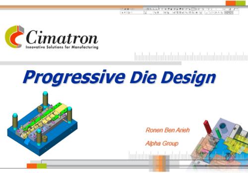 محاضرة بعنوان  Progressive Die Design P_d_d_10