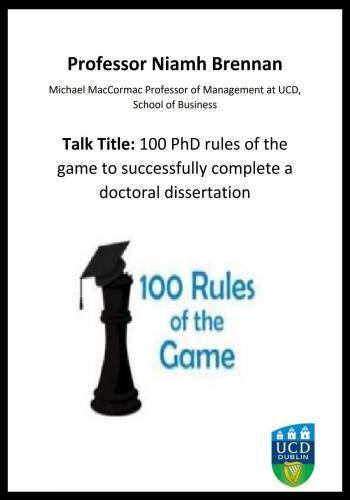 بحث بعنوان 100 PhD Rules of the Game to Successfully Complete a Doctoral Dissertation  P_h_d_10
