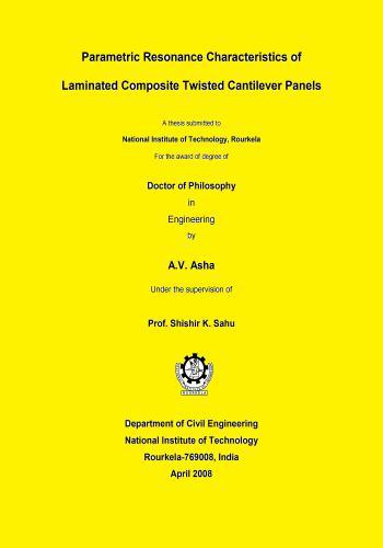 رسالة دكتوراة بعنوان Parametric Resonance Characteristics of Laminated Composite Twisted Cantilever Panels  P_r_c_10