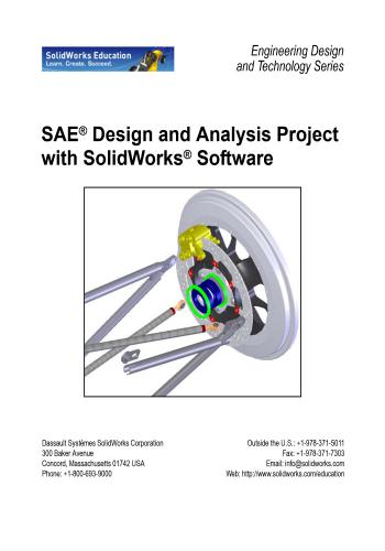 كتاب SAE Design and Analysis Project with SolidWorks Software  S_a_e_10