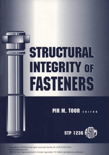 كتاب Structural Integrity of Fasteners  S_i_o_10