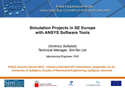 محاضرة بعنوان Simulation Projects in SE Europe with ANSYS Software Tools  S_p_i_11