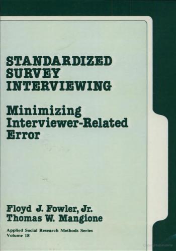 كتاب Standardized Interviewing - Minimizing Interviewer-Related Error  S_s_i_10