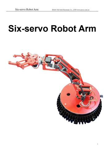 كتاب Six-servo Robot Arm  S_s_r_10