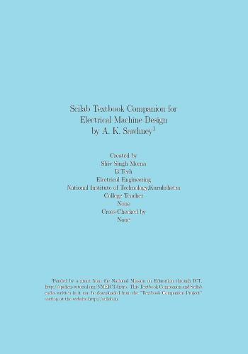 كتاب Scilab Textbook Companion for Electrical Machine Design S_t_b_10