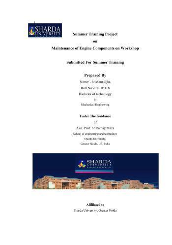 مشروع بعنوان Maintenance of Engine Components on Workshop  S_t_p_11