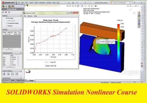 كورس المحاكاة الغير خطية باستخدام برنامج سوليدوركس - SOLIDWORKS Simulation Nonlinear Course S_w_p_10