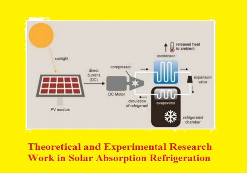 بحث بعنوان Theoretical and Experimental Research Work in Solar Absorption Refrigeration  T_a_e_10