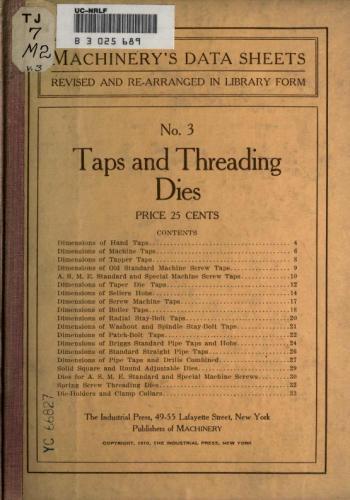 كتاب Taps and Threading Dies  T_a_t_10