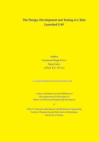 رسالة دكتوراة بعنوان The Design, Development and Testing of a Tube Launched UAV  T_d_d_10