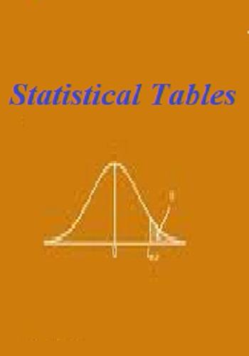 مجموعة جداول احصائية هامة - Statistical Tables T_s_e_10