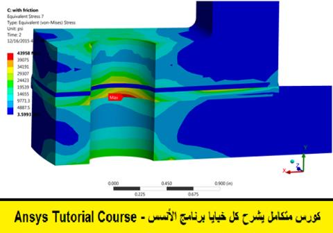 كورس متكامل يشرح كل خبايا برنامج الأنسس - ANSYS Tutorial