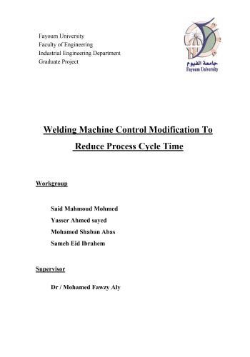 مشروع تخرج بعنوان Welding Machine Control Modification To Reduce Process Cycle Time  W_m_c_10