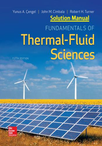 حل كتاب Fundamentals of Thermal Fluid Sciences - Solution Manual  Y_a_c_14