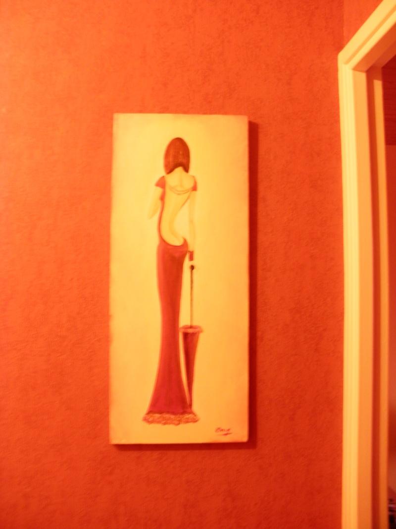 Mlle H où l'art et la maitrise du pinceau, du crayon ainsi que de l'aiguille. Pc030010