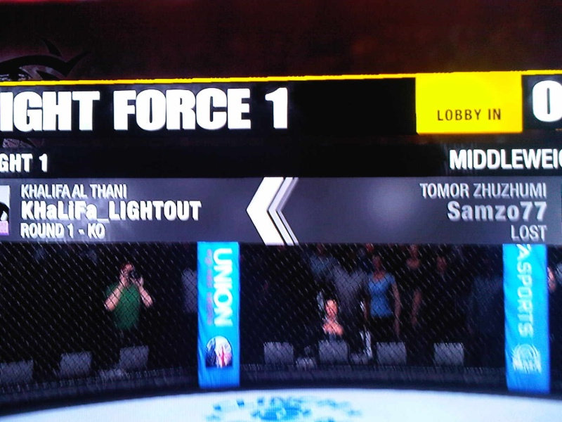 won my first fight  :)  :cheers:   Ea_mma11
