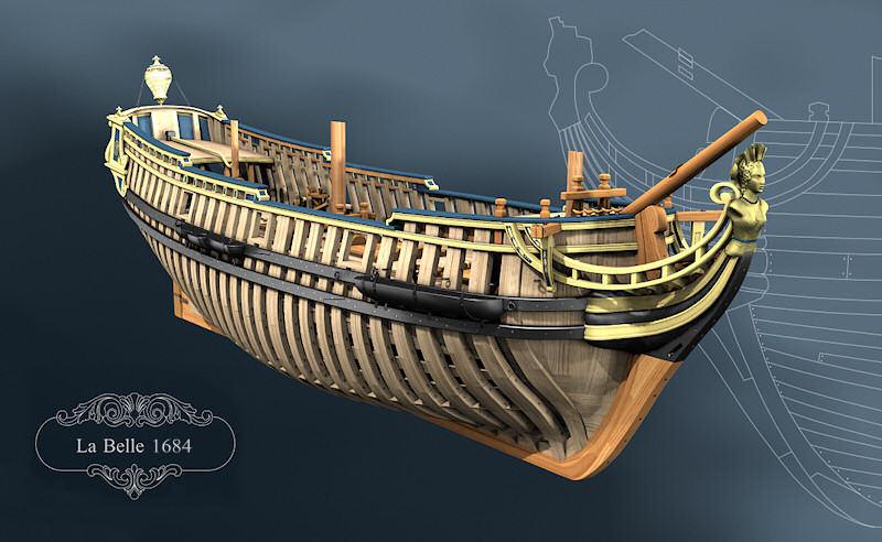 Modèle de La Belle, en 3D par B. Huc Belle_11