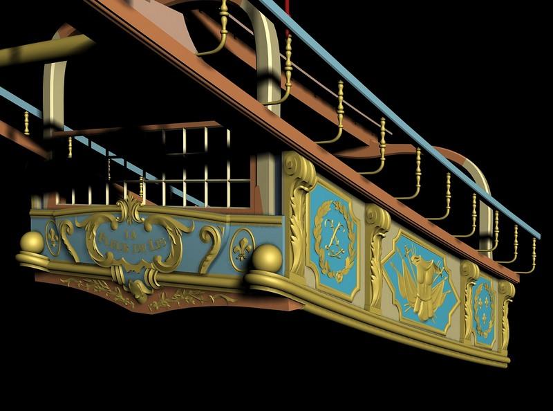 Modèle de La Fleur de Lis, en 3D par B. Huc Tabloa10