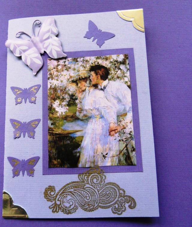 Karte für eine Freundin lila Sdc10933