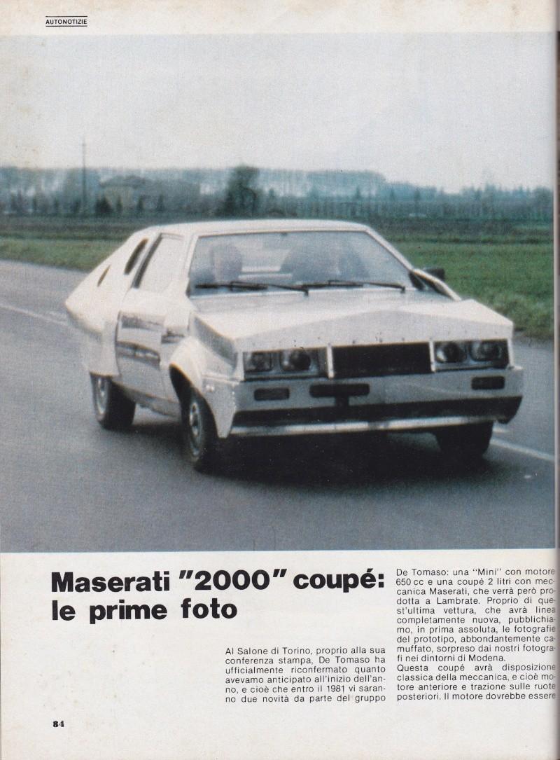 Nel 1980 la Maserati Biturbo camuffata Serviz10