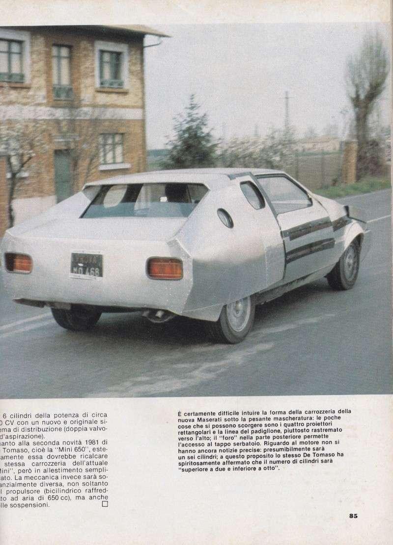 Nel 1980 la Maserati Biturbo camuffata Serviz11