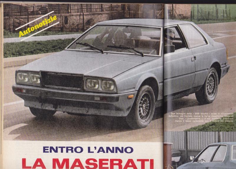 Nel 1980 la Maserati Biturbo camuffata Serviz13