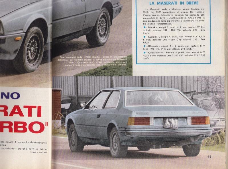 Nel 1980 la Maserati Biturbo camuffata Serviz14