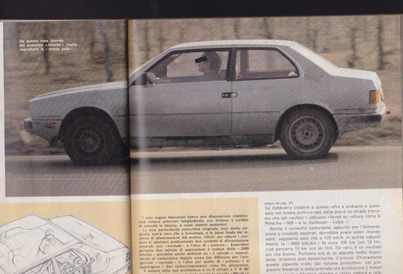 Nel 1980 la Maserati Biturbo camuffata Serviz15