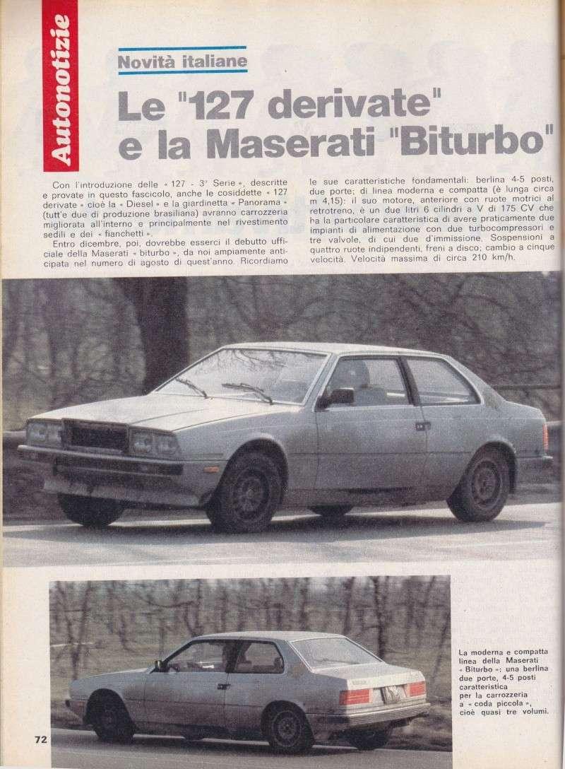 Nel 1980 la Maserati Biturbo camuffata Serviz16