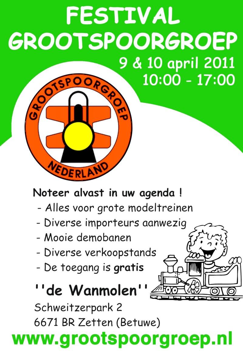 Festival Grootspoorgroep - April 9 & 10 2011 The Netherlands Flyerf10