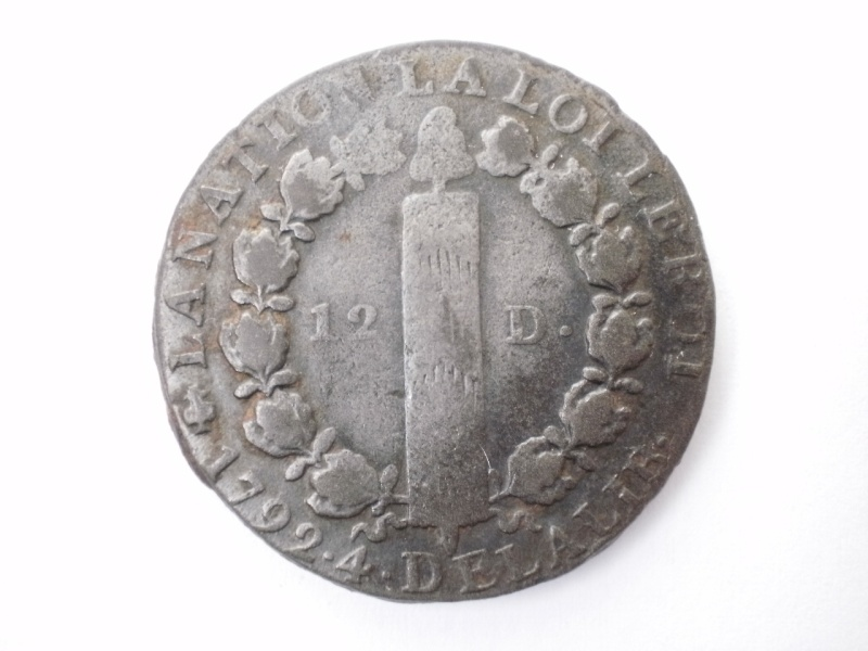 12 Deniers 1792 A 214
