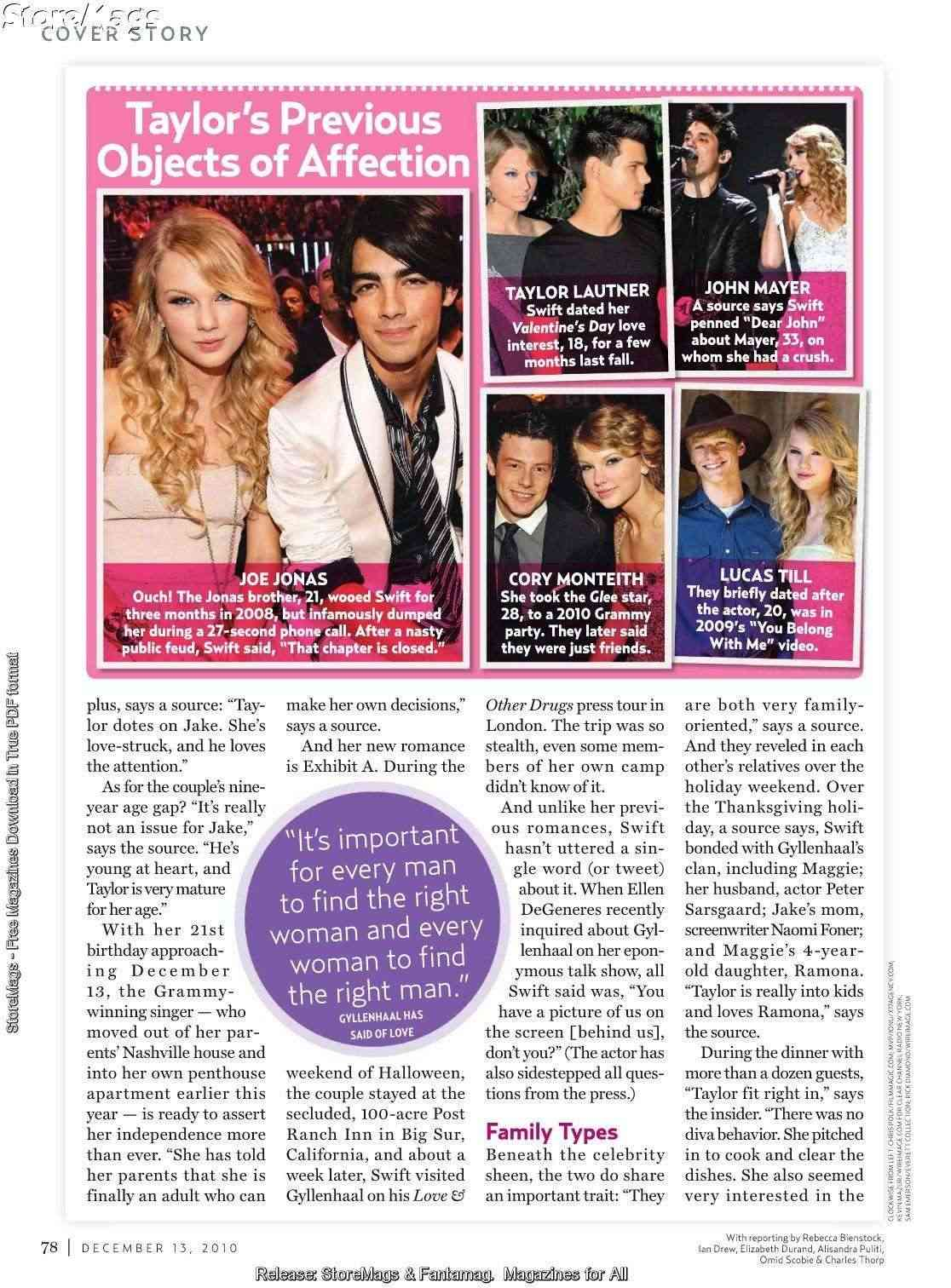Taylor Swift - US Weekly - December 2010 Forum_84