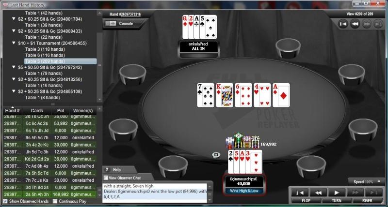 Full Tilt $10 PLO Hi/Lo win  Last_h10