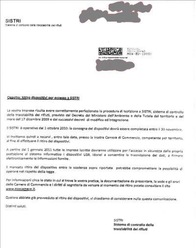 CONSEGNA DEI DISPOSITIVI ENTRO IL 30 NOVEMBRE - niente riinvii, ora l'Azienda deve andare a prenderseli Fax13