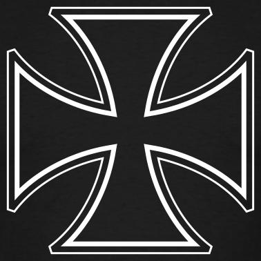 croce di malta Nero-c10