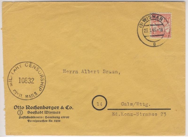 Mecklenburg - Mecklenburg - Vorpommern (OPD Schwerin) -Sowjetische Besatzungszone Meckpo10