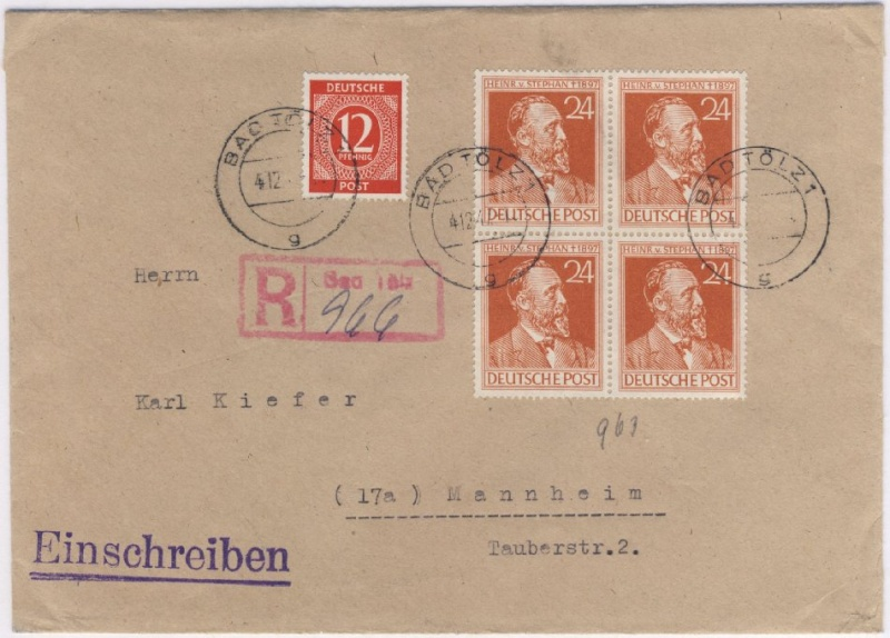Bayern Kreuzerbelege Talz-a10