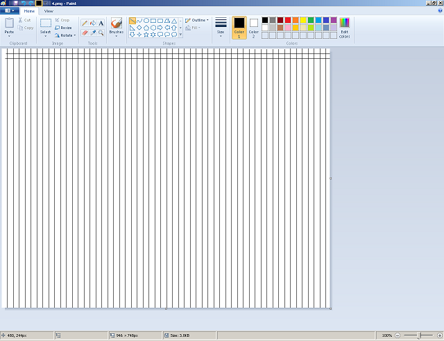 Making graph paper in Ms Paint; Useful to build (Addon to Redd's Building Guide) 411