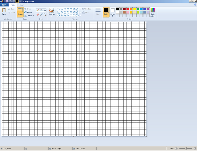 Making graph paper in Ms Paint; Useful to build (Addon to Redd's Building Guide) 511